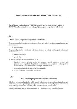 Detský domov 019 01 Ilava – Klobušice, M