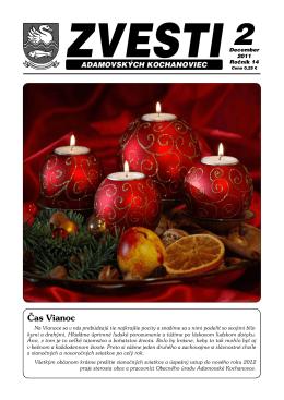 Čas Vianoc - Adamovské Kochanovce