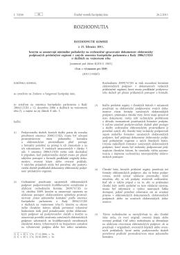 Rozhodnutie 2011/130/EÚ, ktorým sa ustanovujú minimálne