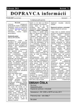 Dopravca informácií február 2011