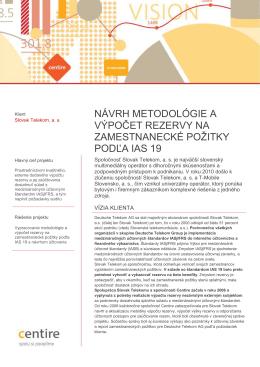 návrh metodológie a výpočet rezervy na zamestnanecké