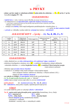 s - prvky