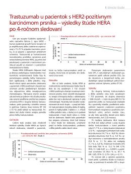 Trastuzumab u pacientok s HER2-pozitívnym karcinómom prsníka