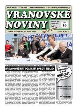 VN2013-16 - Vranovské noviny