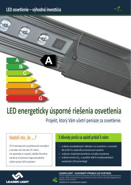 LED energeticky úsporné riešenia osvetlenia