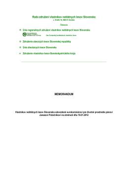 Rada združení vlastníkov neštátnych lesov Slovenska