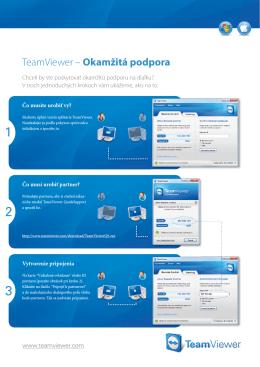TeamViewer – Okamžitá podpora