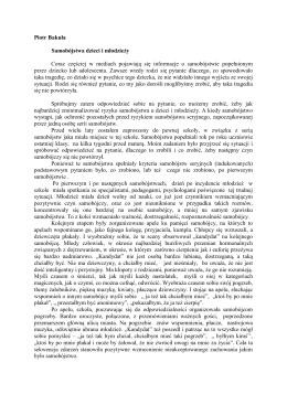Piotr Bakuła Samobójstwa dzieci i młodzieży Coraz częściej w