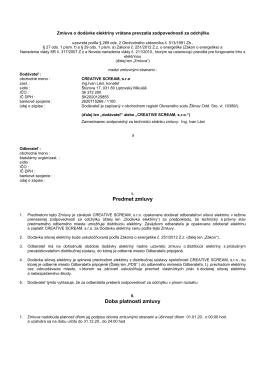 Zmluva o dodávke elektrickej energie a prevzatí - creative