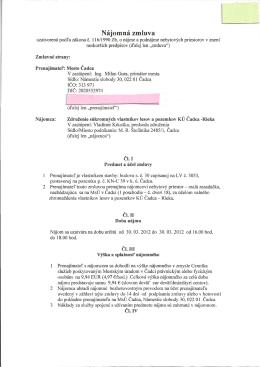 Nájomná zmluva - Združenie súkromných vlastníkov