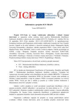 Informácie o projekte ICF