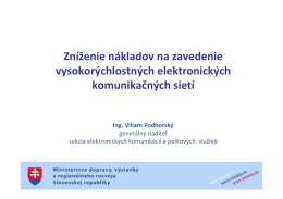 4_Podhorsky_MDVaRR SR_znižovanie nakladv na