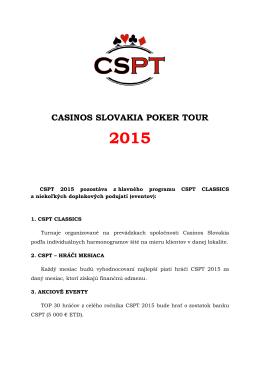 CSPT 2015 eventy a pravidlá