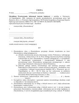 Wzór umowy - OPI - Ośrodek Przetwarzania Informacji