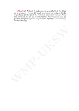 Wykład - cz. 8-10