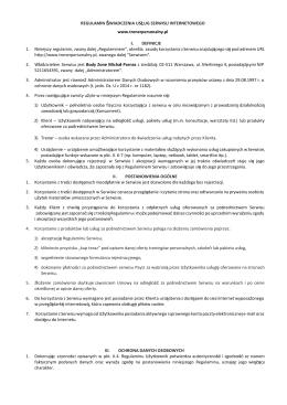 Regulamin - TrenerPersonalny.pl