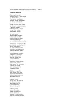 Humorná básnička