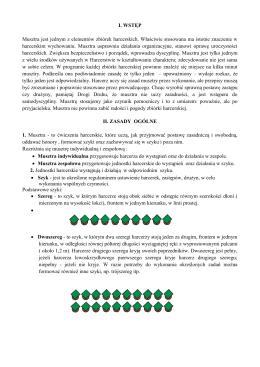 I. WSTĘP Musztra jest jednym z elementów zbiórek harcerskich