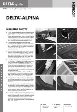 DELTA®-ALPINA Montážne pokyny