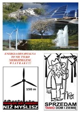 ENERGIA ODNAWIALNA TO NIE TYLKO NIEBEZPIECZNE