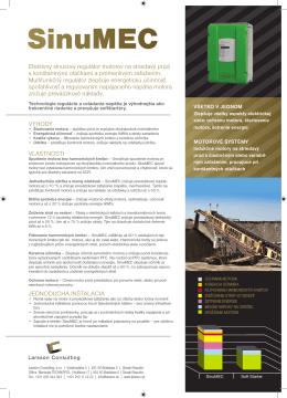 Vlastnosti SinuMEC - Larsson Consulting