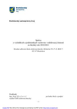 Správa o výsledkoch 2010/2011