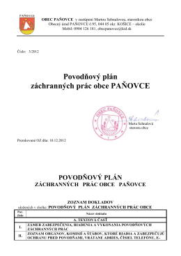 Protipovodňový plán záchranných prác