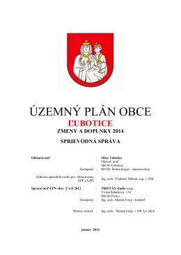 SPRIEVODNA SPRAVA.pdf - Obecný úrad Ľubotice