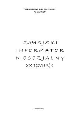 xxii(2013)4 - Diecezja Zamojsko