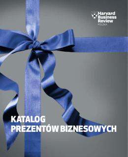 Katalog prezentów biznesowych - Harvard Business Review Polska