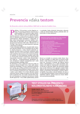 Prevencia vdaka testom