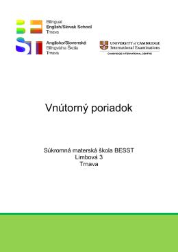 Vnútorný poriadok MŠ 2013-2014