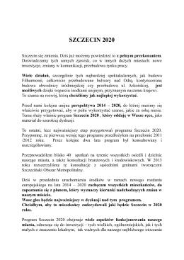 SZCZECIN 2020 - e-URZĄD Miasta Szczecin