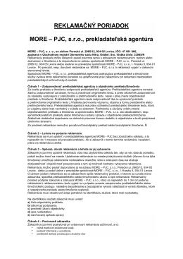 Prekladateľská agentúra - MORE
