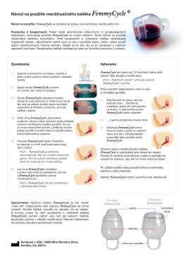 Návod na použitie menštruačného kalíška FemmyCycle ®
