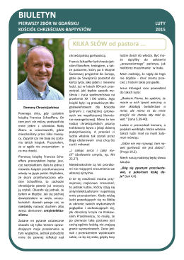 Biuletyn Lutowy 2015 - Pierwszy Zbór w Gdańsku