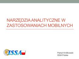 Narzędzia analityczne w zastosowaniach mobilnych