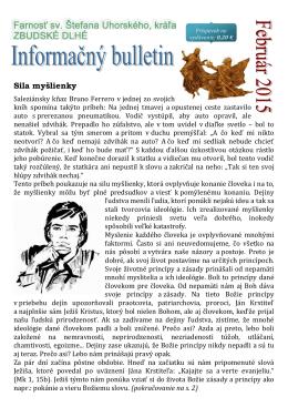 02-2015 - Farnosť sv. Štefana Uhorského Zbudské Dlhé