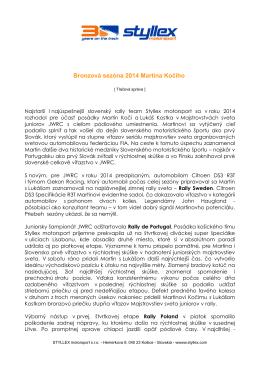 Bronzová sezóna 2014 Martina Kočiho