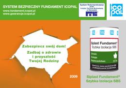 Siplast Fundament® Szybka Izolacja SBS SYSTEM