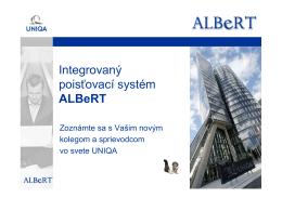 Integrovaný poisťovací systém ALBeRT