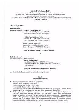 ZMLUVA č. 32/2014