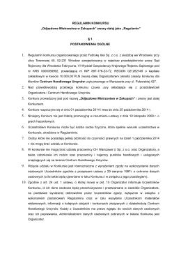 """REGULAMIN KONKURSU """"Odjazdowe Mistrzostwa w Zakupach"""