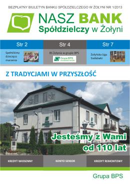 biuletyn 1,2013 do pdf - Bank Spółdzielczy w Żołyni