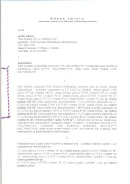 Kúpna zmluva - Obec Podbiel