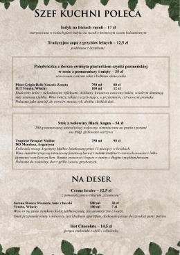 menu w wersji PDF do pobrania