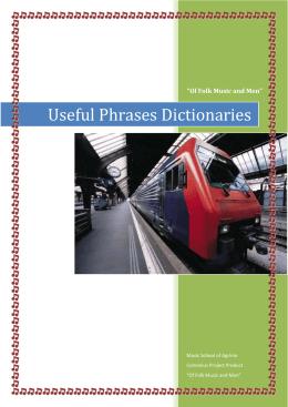 Useful Phrases Dictionaries - XI Liceum Ogólnokształcące w