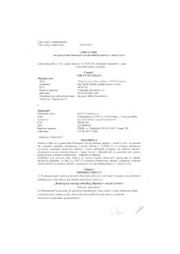 """""""Koncepcia rozvoja statickej dopravy v meste Levice"""","""
