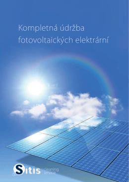 Kompletná údržba fotovoltaických elektrární