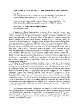 Nadwrazliwosc na gluten - Polskie Stowarzyszenie Osób z Celiakią i